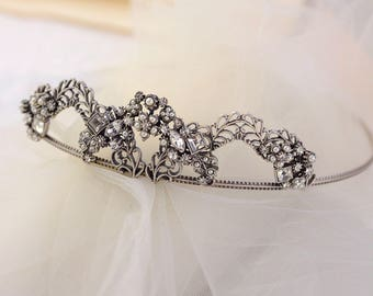 Bridal Tiara, Wedding Tiara, Hair Accessory, Hair Band, Crown, Headband, Wedding Hair Accessories, Wedding Jewelry, Quincenera Crown HB836