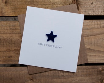 HAPPY FATHERS DAY Card with detachable magnet keepsake