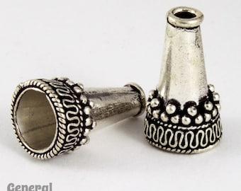 21mm Antique Silver Bali Cone  #COA033