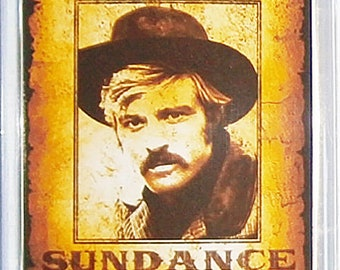 Butch Cassidy and The Sundance Kid Paul Newman Robert Redford Katherine Ross movie poster Fridge Magnets and Keyrings #2 - New