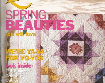 McCall's Quilting Magazine.  Spring Beauties.  April 2003.
