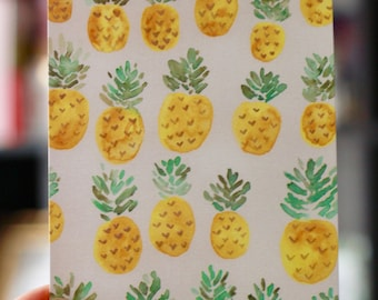Pineapple Hand Painted Postcard
