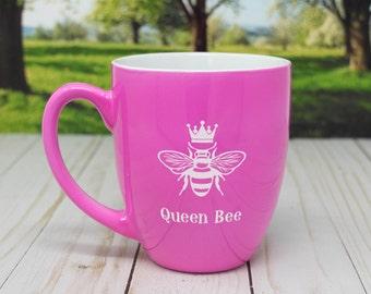 Queen Bee Coffee Mug, Gift, Queen, Birthday gift,  Wedding gift, Anniversary gift, coffee mugs, coffee cup, Bridal Shower, Bachelorette