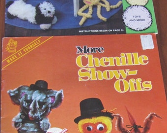 vintage craft leaflet for kids pom pom crafts and chenille