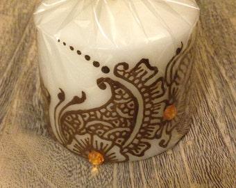 Paisley Henna Candle