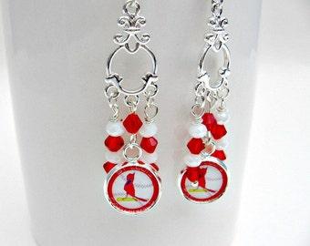 St. Louis Cardinals Earrings, St. Louis Cardinals Baseball Jewelry, St. Louis Cardinals Accessories, Sports Jewelry, Baseball Mom, Cardinals