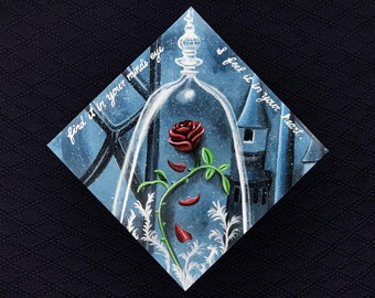 Beauty and the Beast Graduation Cap --- Made to Order