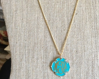 Monogrammed Quatrefoil Necklace