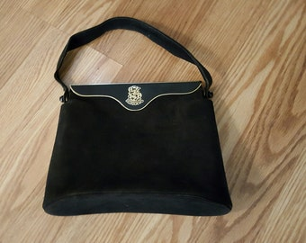 Charles Blair Paris Suede Purse Elegant Well Constructed