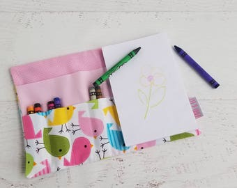 Easter Kids Gift | Crayon Wallet Personalized | Crayon Roll Up for Girls | Toddler Girl Easter Gift | Crayon for Toddler Girl | Crayon Book