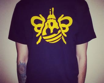 Bee tee from BEE-WARE!!! clothing black and golden yellow manchester (mens) free postage