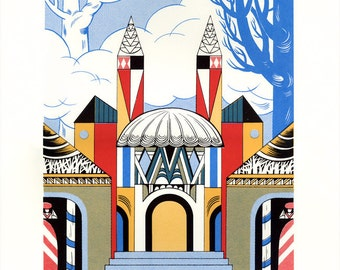 "Silkscreen, ""Capital Kingdom"" (from The Nutcracker), Original Screenprinted Art, Hand-printed, Limited Edition"