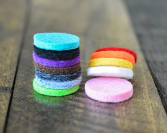 Essential Oil Diffuser Felt Pads for 30mm Locket - Felt Pads for Essential Oil Diffuser Necklace - Diffuser Jewelry - Aromatherapy Jewelry