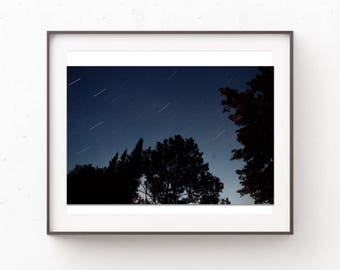 Make A Wish; Star Trails, Wall Art, Photography