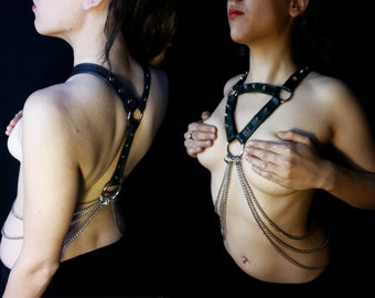 Fetish Harness Made from Recycled Bike Tires and chains