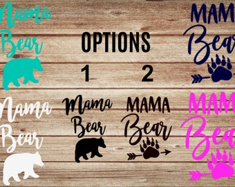 Mama Bear Custom Car Decal | Mama Bear Sticker | Family Car Sticker | Mama Bear Yeti Sticker | Yeti Decal | Family Car Decals | Mom Decal