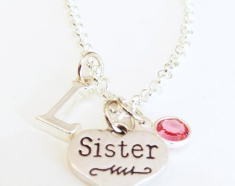 Gift for Sister - Sisters Necklace - Sister Gift - Personalized Gift - Birthday Gift - Friendship Gift - Secret Sister - Best Friend