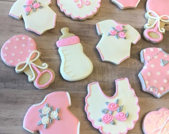 Baby Shower Cookies Premium Design - 1 Dozen
