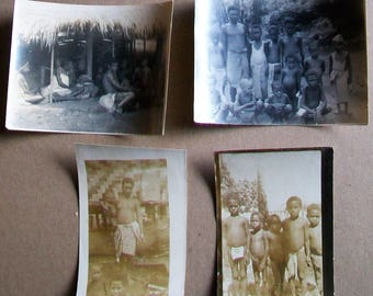 Lot of 4 Original Photos WWII Biak Island Natives, Papua New Guinea - 1944 - Lot 5