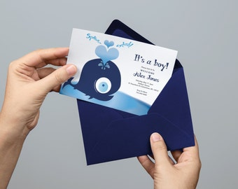Whale Baby Announcement/Shower