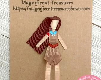 Pocahontas Hair Clip - Pocahontas Hair Bow - Indian Princess Clippie - Disney Princess Ribbon Sculpture - Pocahontas Party Favor