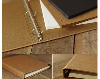 Big Size Kraft Paper Notebook / Photo ALBUM / Hand-painted Graffiti Day Book / DIY Leather Wedding Albums (KB03)