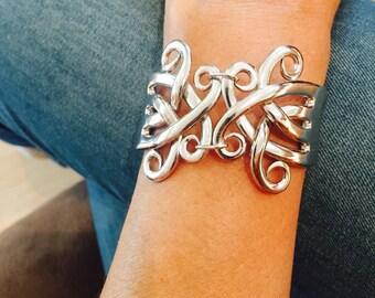 Exquisite Celtic Fork Bracelet