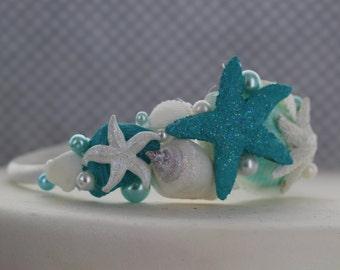 Seashell and Starfish Bridal Headband/
