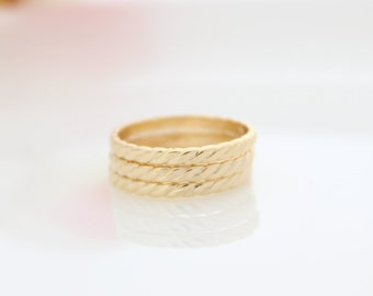 Wrapped Gold Ring • Gold stacking ring