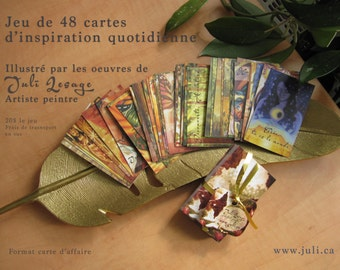 Daily inspiration card game