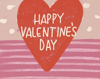 Happy Valentines Day Card (heart) (Set of 3)
