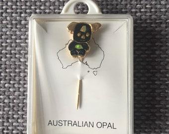 Classic Australian opal koala pin
