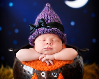 Witch Hat Knitting Pattern - 6 Sizes - PDF Sale - Instant Digital Download