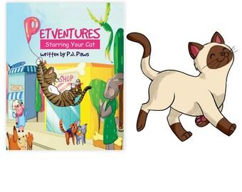 Personalized Book Siamese cat, Siamese cat Gift, Siamese cat art, Siamese cat mom, Siamese cat dad, Siamese cat book, Siamese cat