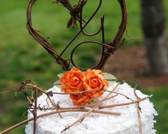 Cake Topper For Rustic Reception