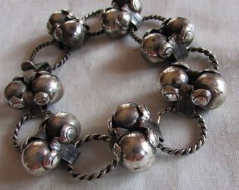 Mexico Sterling Silver Link Bracelet
