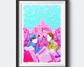 The Grand Budapest Hotel Painting Poster | PRINTS | #M42