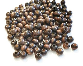 240 Wood Beads - Natural Wooden Spacer Beads -  W8960