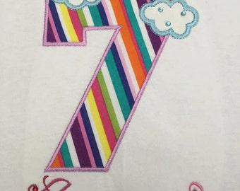 Rainbow Birthday Shirt