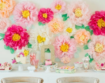 Large tissue paper flower decorations geccetackletarts large tissue paper flower decorations mightylinksfo