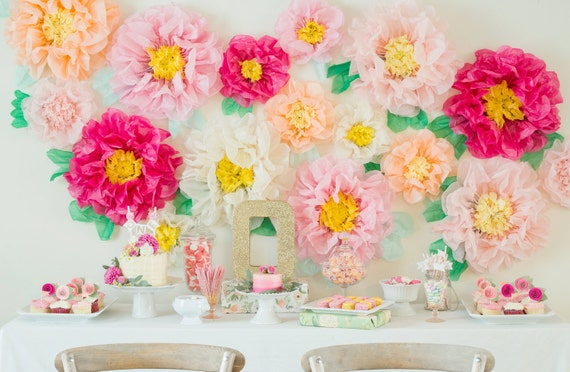Tissue paper flower wall selol ink tissue paper flower wall mightylinksfo