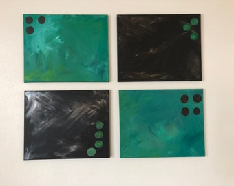 Chocolate and Teal: Series of 4