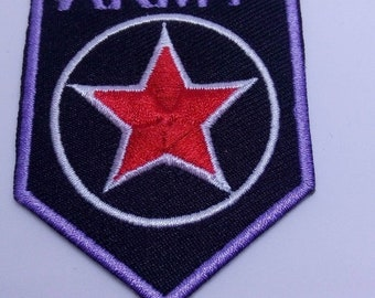 Army Costume Dramatic Play Iron On Patch Embroidery