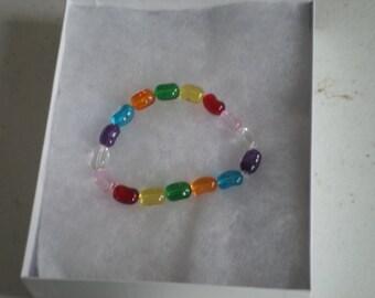 Jelly Bean Beaded Bracelet