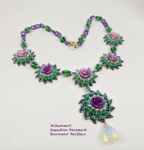 Rosewater Necklace Instant Tutorial Download