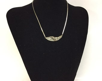 1970's modernist Darveau silver plated vintage necklace
