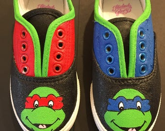 Custom ninja turtle shoes