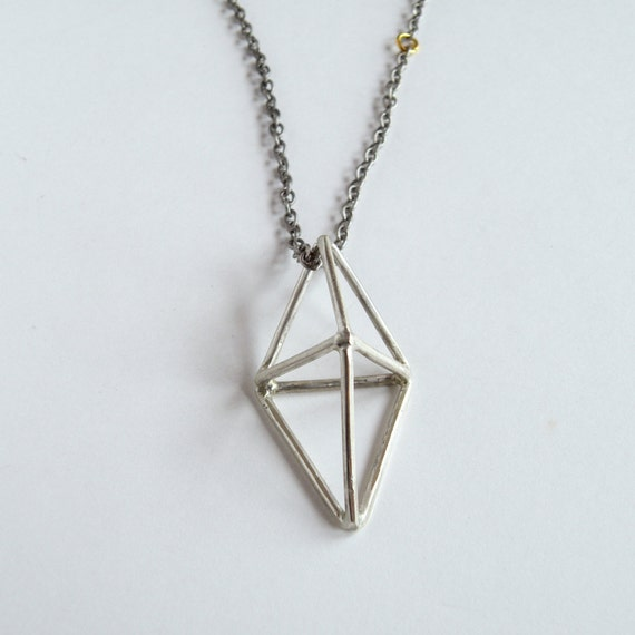 Silver Prism Necklace