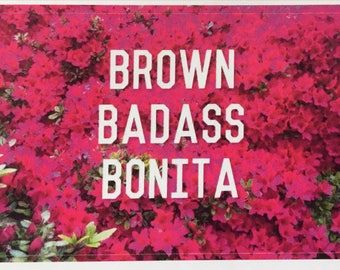 Brown Badass Bonita Stickers