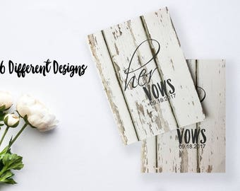 His and Her Vow Booklets for Your Wedding Day
